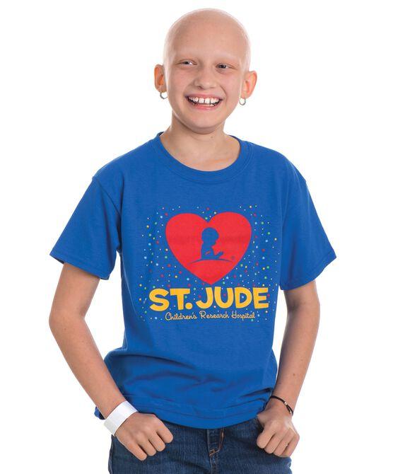 Youth St. Jude Confetti Heart Design T-Shirt
