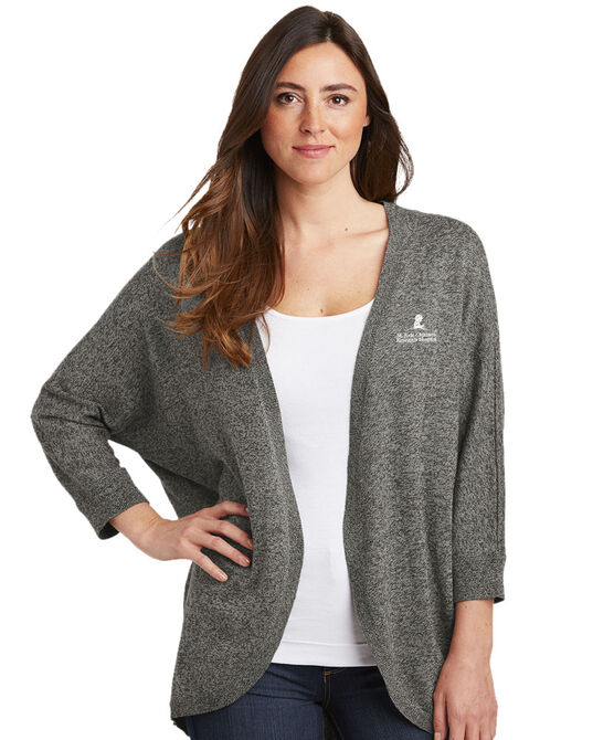 Ladies Marled Cocoon Sweater