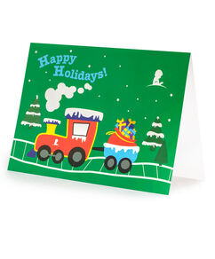 Train Holiday Greeting Cards - Set of 10