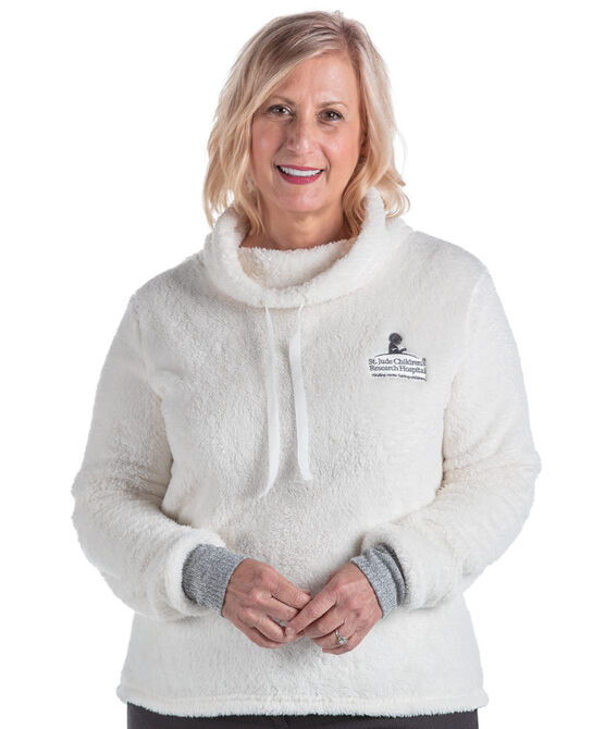 Women's Cowl Neck Sherpa Pullover Sweater