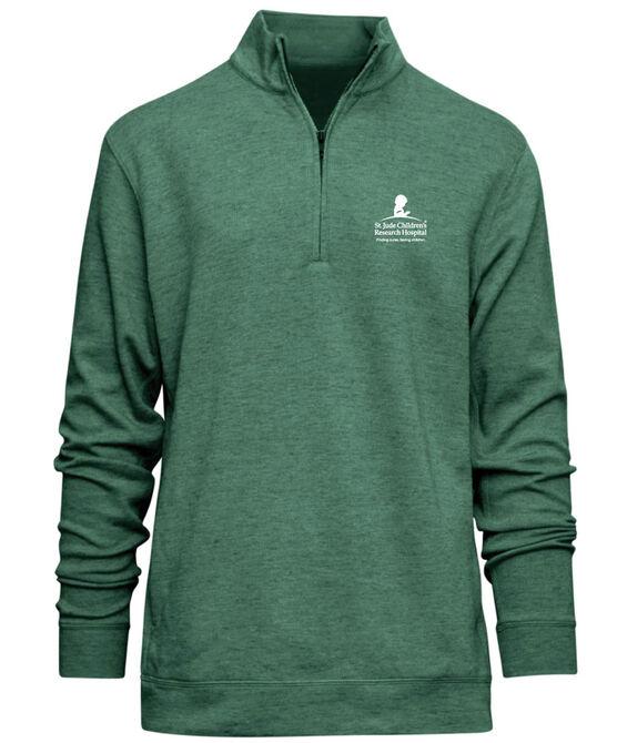 Men's Green Quarter Zip Pullover