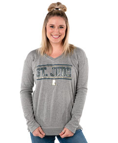 Women's V-neck Side Zip Sweatshirt