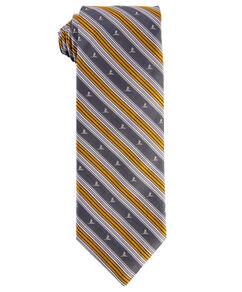 Brooks Brothers® Silk Stripe Tie - Gray & Gold