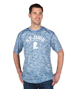 Mens Heathered Athletic Tee