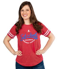 St. Jude Script Baseball T-Shirt