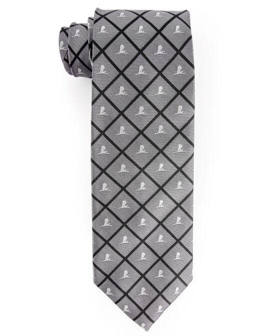 Brooks Brothers® Silk Grid Tie - Gray