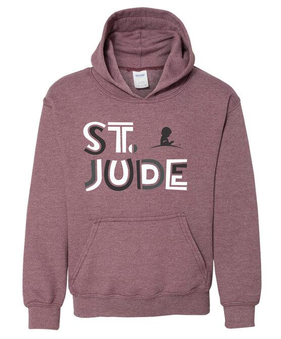 Youth St. Jude Maroon Hoodie Sweatshirt