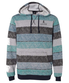 Unisex Striped Fleece Hooded Sweatshirt