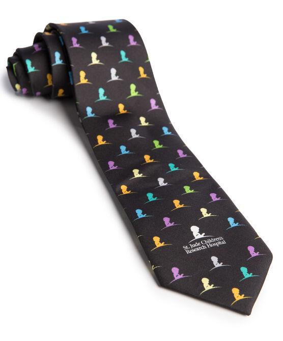 Multi Colored St. Jude Logo Silk Tie