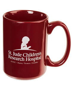 St. Jude Ceramic Coffee Mug - Burgundy
