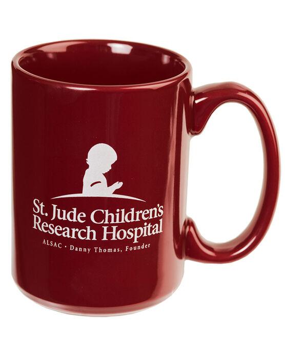 St. Jude Ceramic Coffee Mug - Burgundy