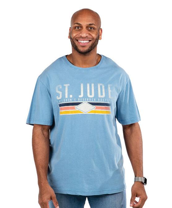 Unisex Blue Tri-Lined Diamond T-shirt