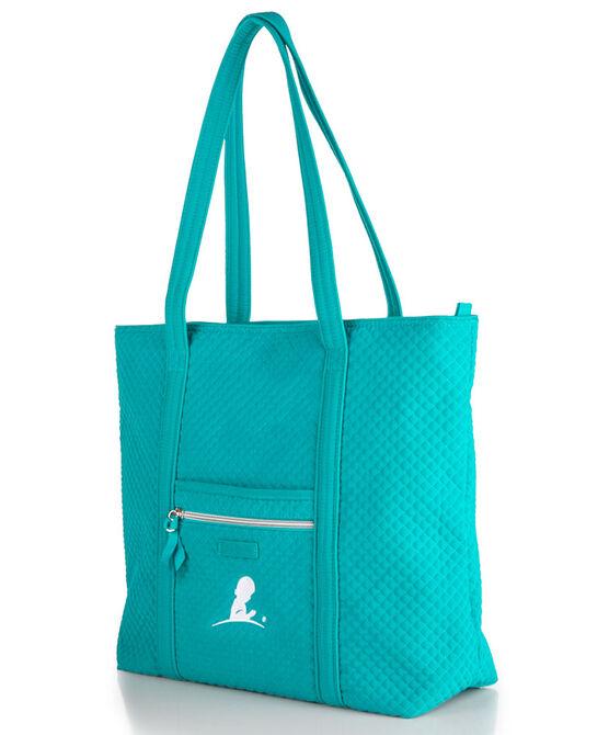 Vera Bradley® Teal Quilted Tote Bag