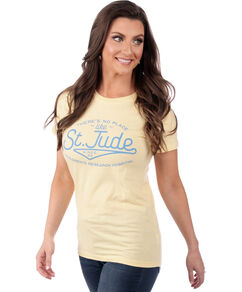 Ladies' Fitted There's No Place Like St. Jude Tee