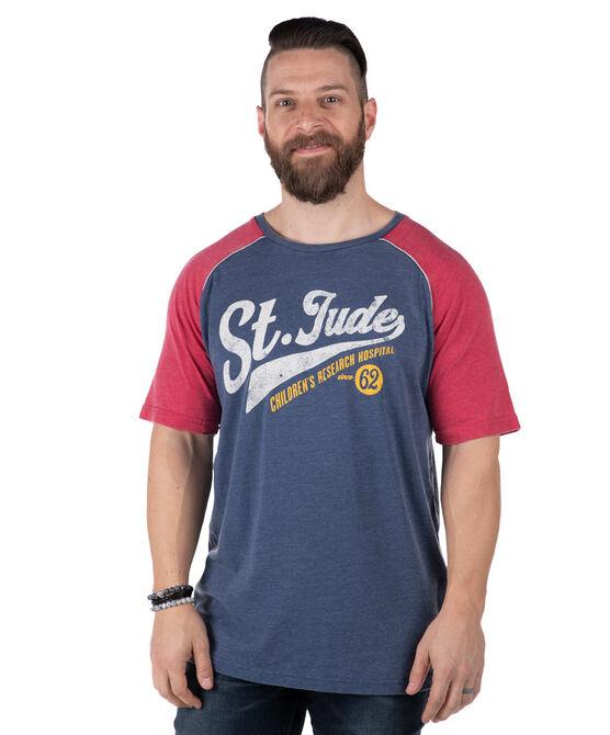 Baseball-Style Raglan Short Sleeved Colorblock T-Shirt