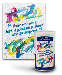 Danny Thomas Quote & Patient Art Puzzle