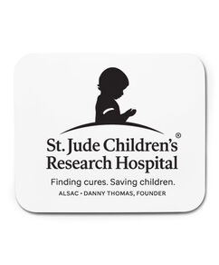 St. Jude Logo White Mousepad