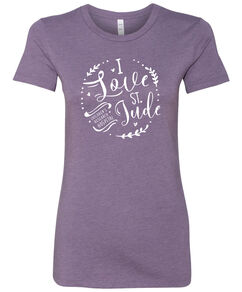 Junior-Fit I Love St. Jude Script T Shirt