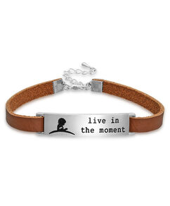 Live in the Moment Leather Bracelet