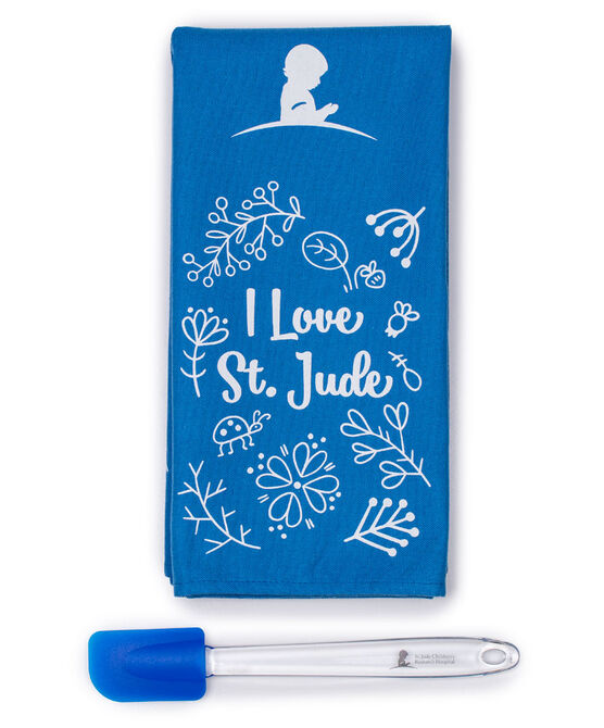 I Love St. Jude Kitchen Towel and Spatula Set
