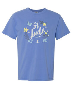 Butterfly Floral Comfort Colors T Shirt