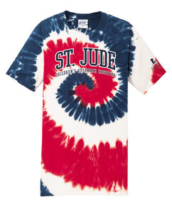 St. Jude Red & Blue Tie Dye T-Shirt