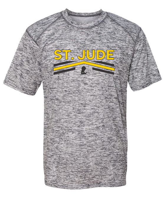 Men's Childhood Cancer Awareness Athletic Tshirt
