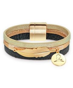 Triple Strand Leaf Charm Bracelet