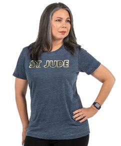 Women's St. Jude Gold Stud Navy T-shirt