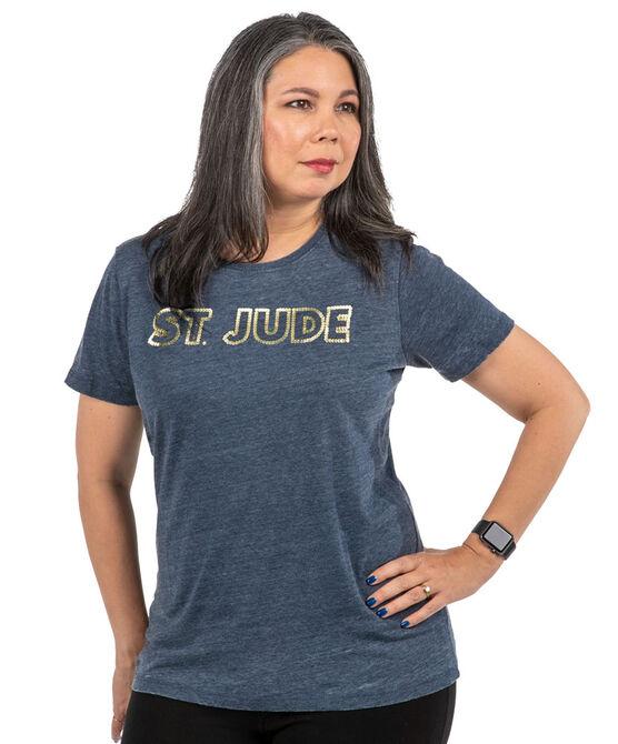 Women's St. Jude Gold Stud Navy T-shirt