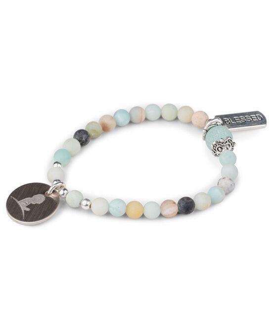 Aqua Amazonite Bead Bracelet