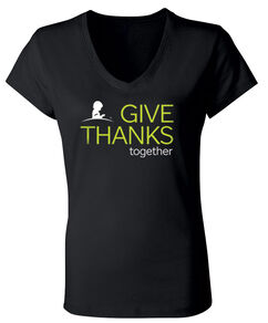 2020 Women's Give Thanks V-Neck T-Shirt
