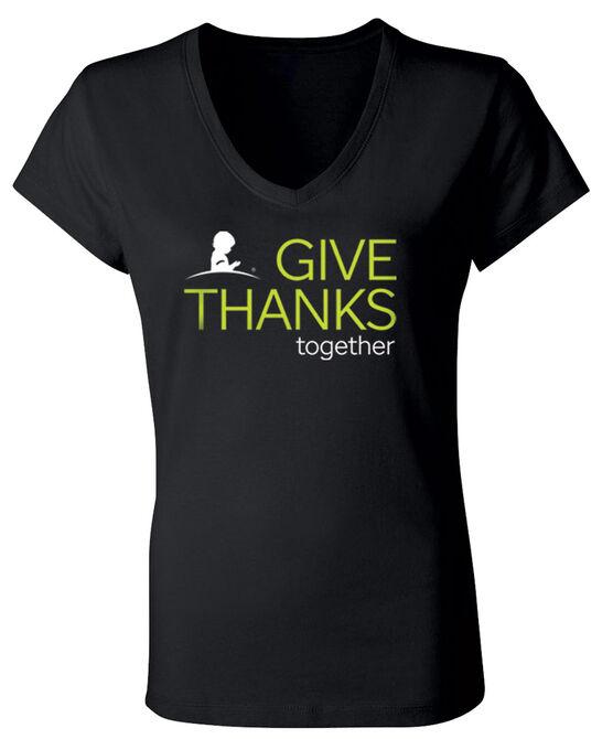 2020 Women's Give Thanks V-Neck T-Shirt