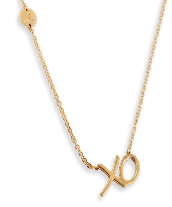 XO Matte Gold Necklace