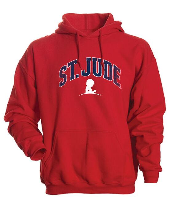 Unisex Arched Design Hooded Sweatshirt