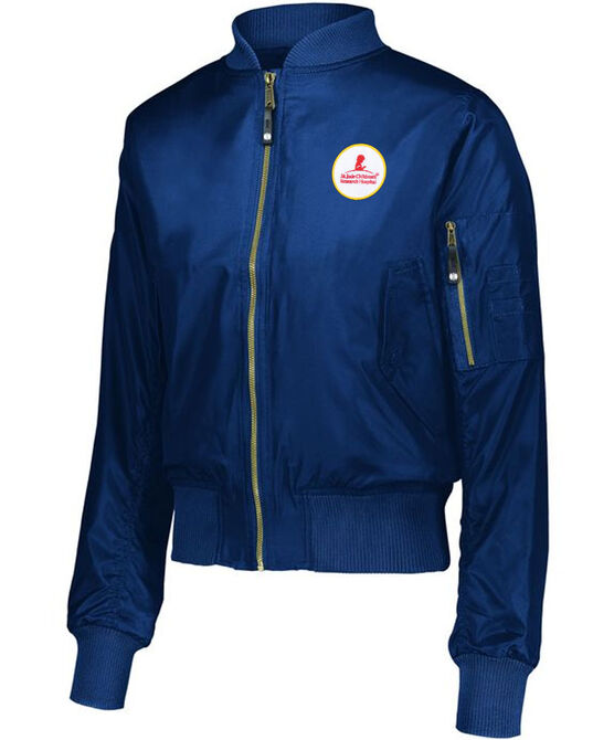 Women's Navy Flight Jacket With Patch