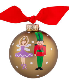 Ballerina & Nutcracker 4″ Ornament