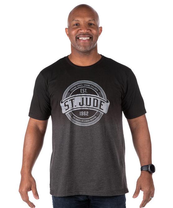 Dip-Dyed Heather Black Circle Banner T-Shirt