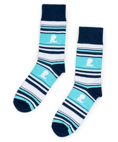 Blue Striped St. Jude Socks