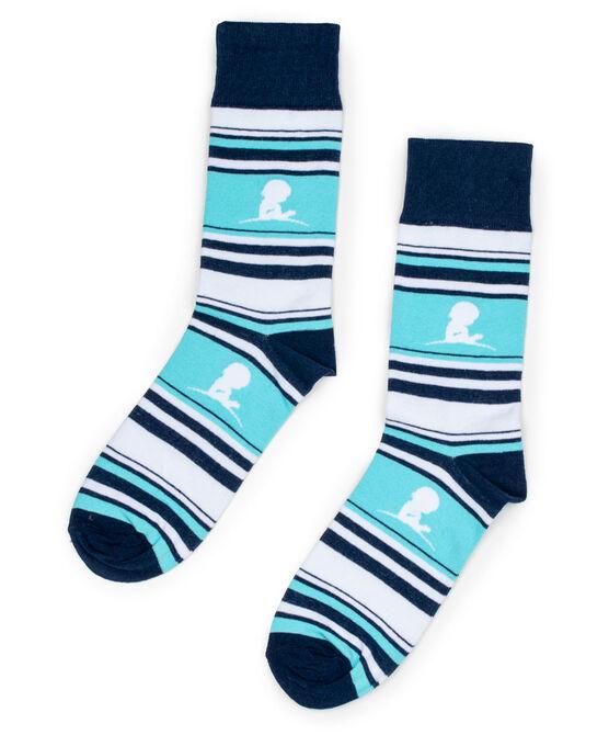 Blue Striped St. Jude Socks