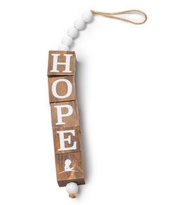Hope Wooden Block Ornament