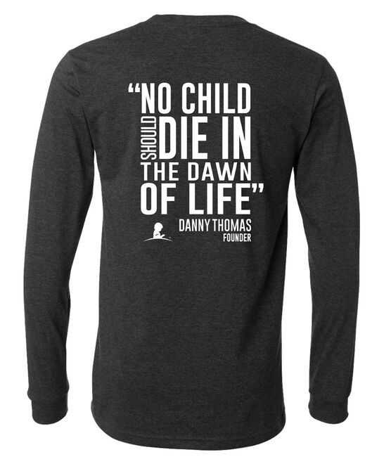 Danny Thomas Block Quote Long-Sleeved T-Shirt