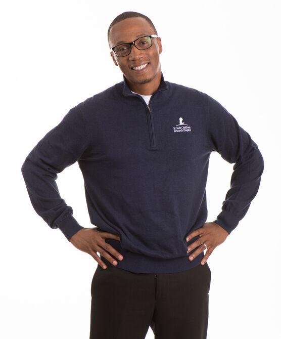 Men's Quarter Zip Sweater Pullover