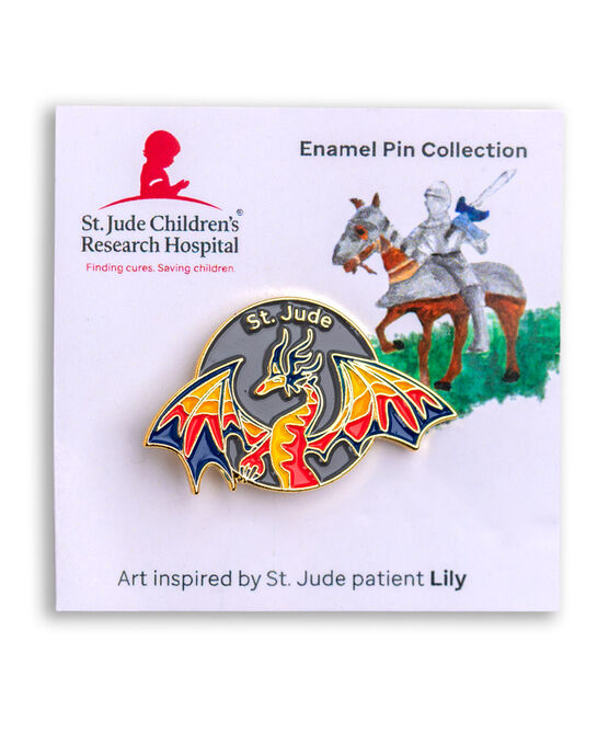 Patient Art Dragon Enamel Pin - Lily