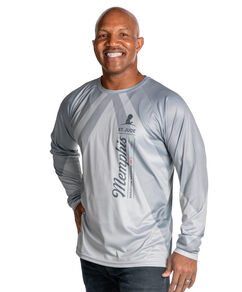 Unisex Long Sleeve Sublimated Performance Shirt Grey