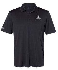 Men's Adidas® Performance Black Polo