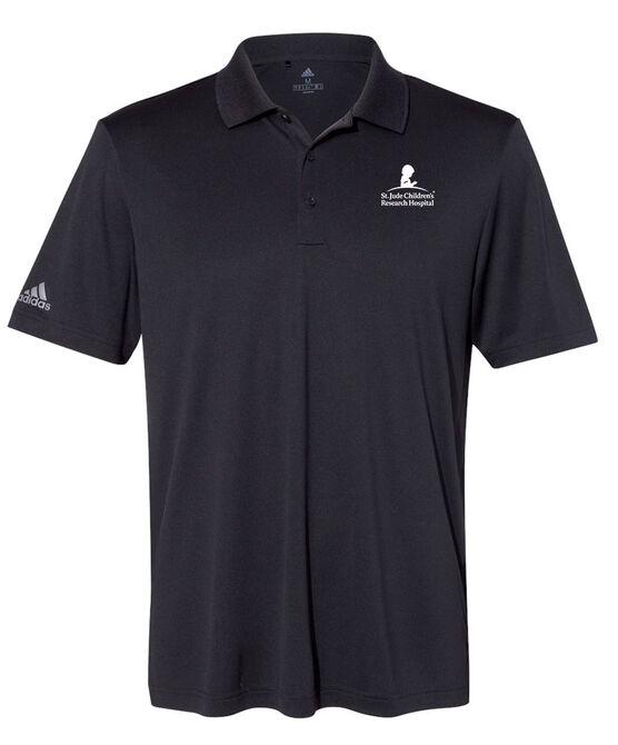 Men's Adidas® Performance Black Polo