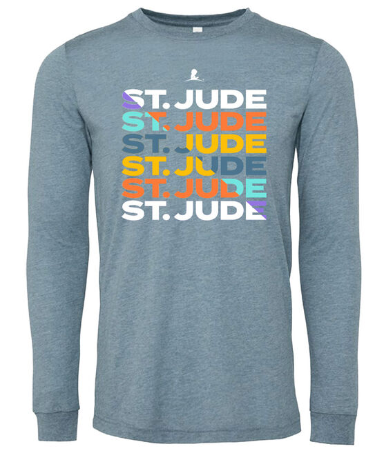 Multi Color Stacked St. Jude Design T-Shirt