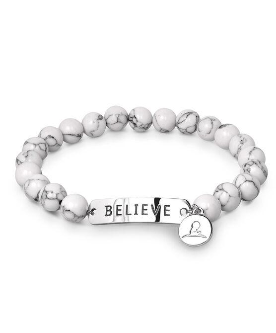 Believe Bead Stretch Bracelet