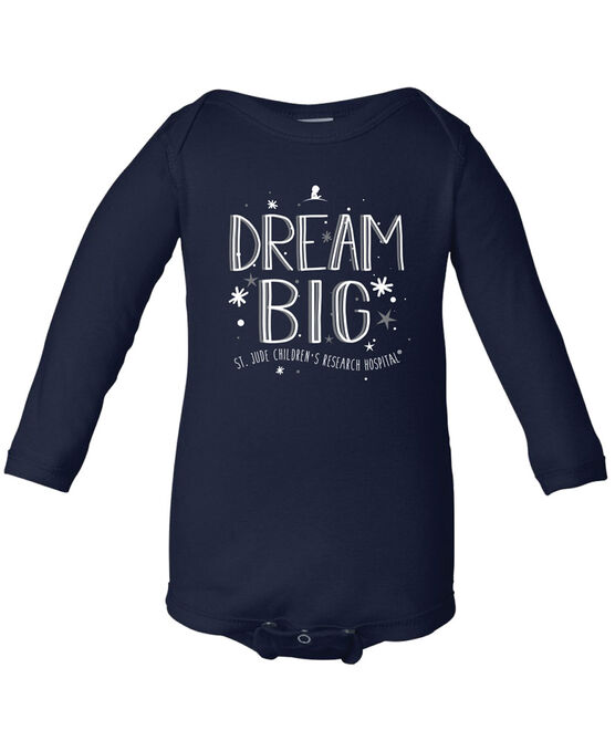 Dream Big Navy Infant Onesie